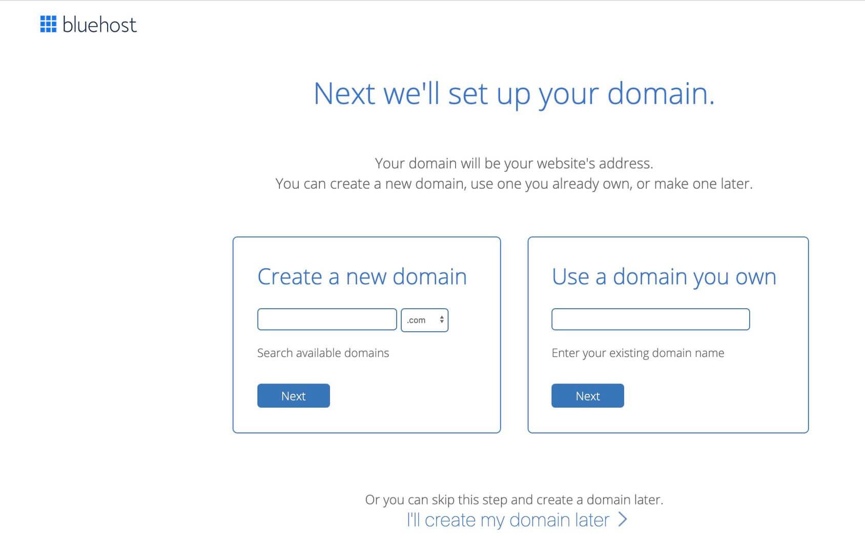 wybierz nazwę domeny