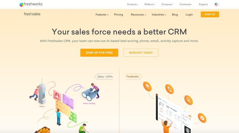 Freshsales CRM firmy Freshworks