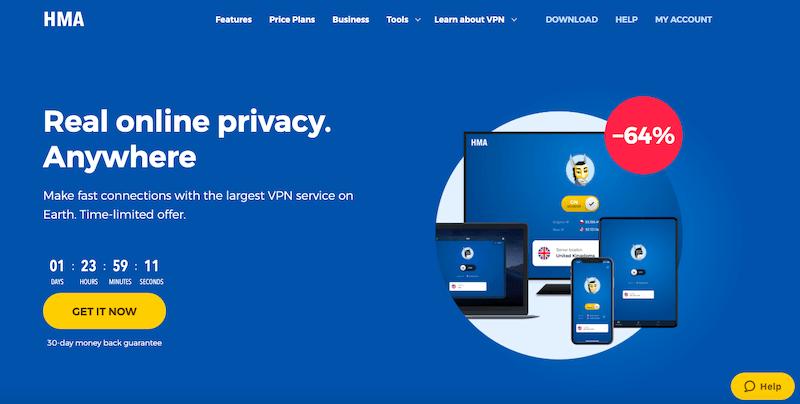 Najlepsze usługi VPN 2019: HMA VPN