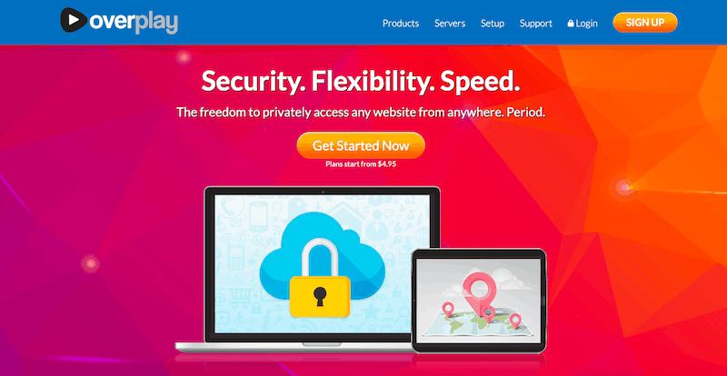 Najlepsze usługi VPN 2019: Overplay VPN