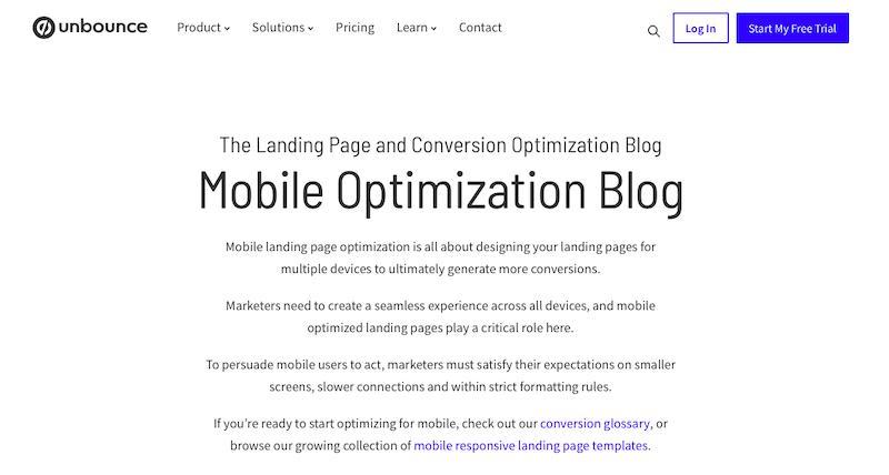 Odrzuć optymalizację mobilną