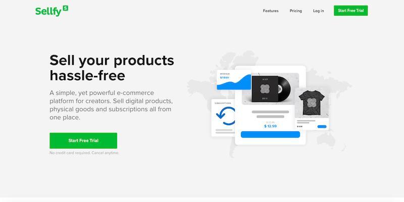 Platforma e-commerce Sellfy