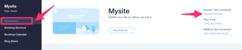 Podłącz domenę do witryny Wix