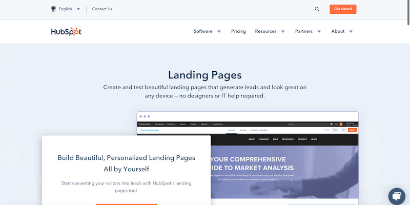Landing Page Szablon - HubSpot