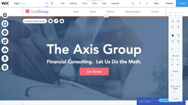 Utwórz stronę internetową Wix krok 3