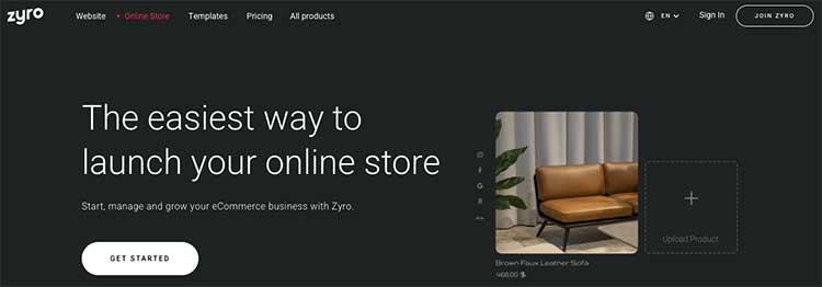 Zyro E-commerce