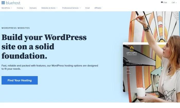 Bluehost WP dla najlepszego hostingu WordPress