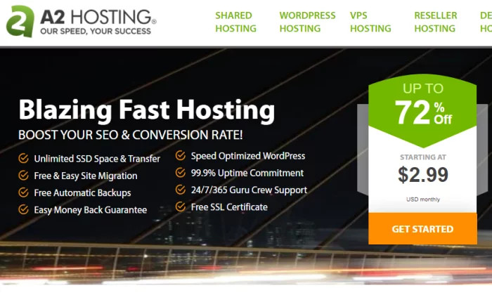 Strona główna A2 Hosting dla najlepszego taniego hostingu