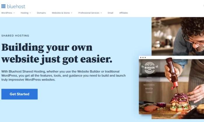 Wspólna strona główna Bluehost dla najlepszego taniego hostingu